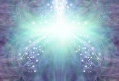 Corriente de enfriamiento del fondo púrpura de la energía del jade libre illustration