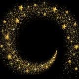 Corriente de estrellas y de partículas de oro libre illustration