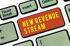 Corriente de ingresos del texto de la escritura nuevo Concepto que significa acercamiento mejorado fuente de ingresos aumentado a imagenes de archivo