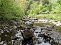 Corriente de la cascada de Ingleton Imagen de archivo