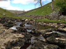 Corriente de la cascada de Ingleton Foto de archivo libre de regalías