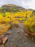 Corriente de la montaña en San Juan Mountains sobre el telururo, Colorado imágenes de archivo libres de regalías