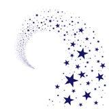 Corriente de las estrellas simples ilustración del vector