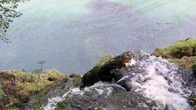 Corriente del agua de la montaña almacen de metraje de vídeo