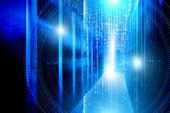 Corriente del código binario Fondo futurista del concepto de la matriz de la tecnología binaria digital abstracta del número Info fotos de archivo libres de regalías