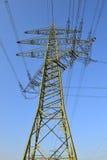 Corriente eléctrica de la alta tensión Foto de archivo