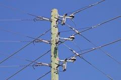 Corriente eléctrica poste imagen de archivo