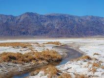 Corriente en Death Valley cerca de Harmony Borax Works Fotografía de archivo libre de regalías