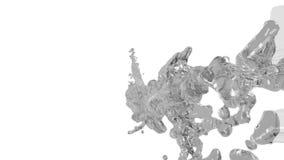 Corriente flúida gris que vuela en la cámara lenta libre illustration