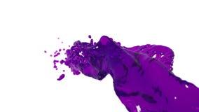 Corriente flúida púrpura que vuela en la cámara lenta DOF jarabe stock de ilustración