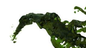 Corriente flúida verde que vuela en la cámara lenta DOF líquido claro stock de ilustración