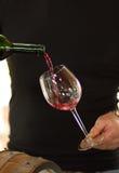 Corriente hermosa en un vidrio de vino Imagen de archivo libre de regalías