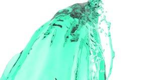 Corriente líquida colorida Pinte salpica El flujo líquido vuela en la cámara libre illustration