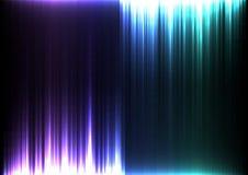 Corriente ligera de la línea de barra abstracta al revés púrpura y azul fondo Fotos de archivo