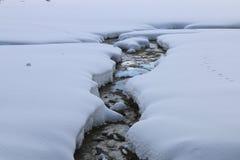 Corriente Nevado Foto de archivo libre de regalías