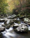 Corriente que fluye colorida de la montaña ahumada Fotos de archivo libres de regalías