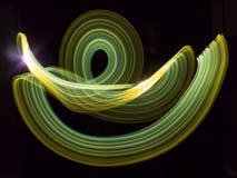 Corriente verde de neón de la energía Foto de archivo libre de regalías
