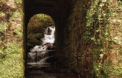Corriente y túnel, Glendine, Irlanda Imagenes de archivo