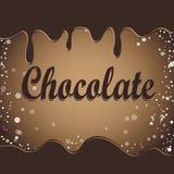 Corrientes del chocolate en el fondo blanco Fotografía de archivo libre de regalías