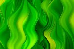 Corrientes onduladas verdes de la pintura Fondo abstracto del vector Pintura acr?lica libre illustration