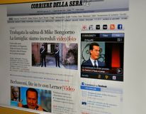Corriere della sera website Stock Photography