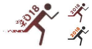 Corriere di disintegrazione 2018 del semitono del pixel Icon illustrazione di stock