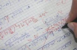 Corrigindo matemáticas Foto de Stock