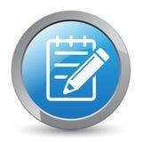 Corrija el botón del icono stock de ilustración