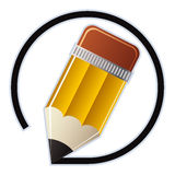 Corrija el icono del vector del lápiz stock de ilustración