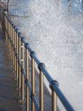 Corrimão e mar inoxidáveis Foto de Stock Royalty Free