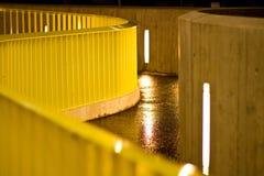 Corrimano giallo Fotografie Stock
