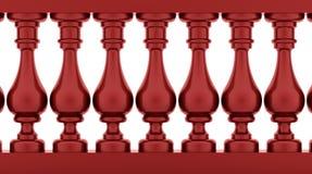Corrimão vermelho rendido Fotos de Stock Royalty Free