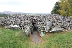 Corrimony Chambered Cairn. Is a historical burial ground in the highlands of Scotland from the bronze age Stock Photos