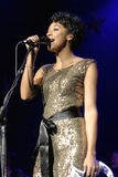 Corrine Bailey Rae performing live. Royalty Free Stock Photos