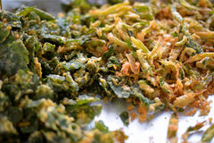 Corriola fritada, foco seletivo, alimento tailandês Imagem de Stock