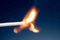 Corrispondenza bruciata appena Immagini Stock Libere da Diritti
