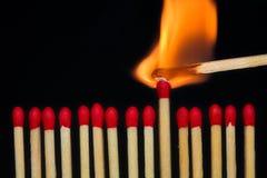 Corrispondenza Burning Fotografia Stock Libera da Diritti