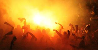 Corrispondenza di calcio Immagini Stock Libere da Diritti