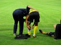 Corrispondenza di calcio Fotografie Stock Libere da Diritti