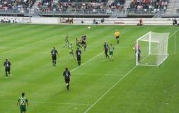 Corrispondenza di calcio Fotografie Stock
