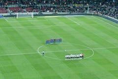 Corrispondenza di gioco del calcio Fotografia Stock Libera da Diritti