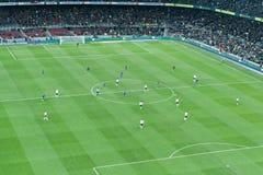 Corrispondenza di gioco del calcio Immagini Stock Libere da Diritti