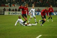 Corrispondenza di gioco del calcio Fotografia Stock