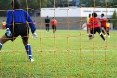 Corrispondenza di gioco del calcio femminile Immagini Stock