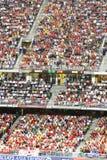 Corrispondenza di gioco del calcio nello stadio di Hong Kong Fotografia Stock