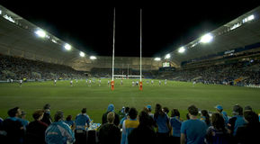 Corrispondenza di lega di rugby Fotografie Stock