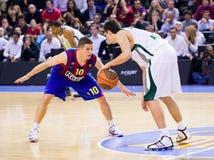 Corrispondenza di pallacanestro Fotografia Stock
