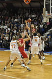 Corrispondenza di pallacanestro pro A, BCM/Elan. fotografia stock libera da diritti