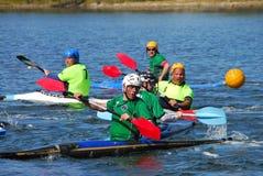 Corrispondenza di polo di acqua della canoa Immagine Stock Libera da Diritti