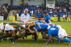 Corrispondenza di rugby Fotografie Stock